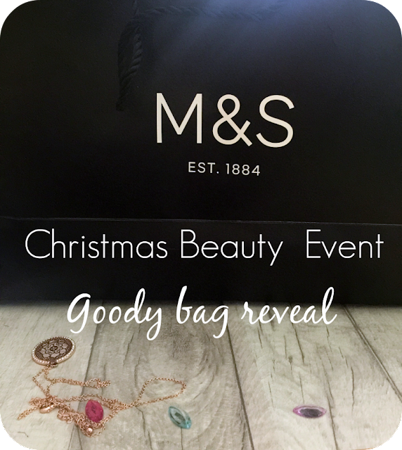 m&s christmas beauty event goody bag contents