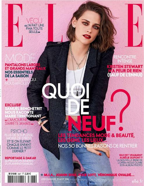 Actress, @ Kristen Stewart - Elle France August 2016