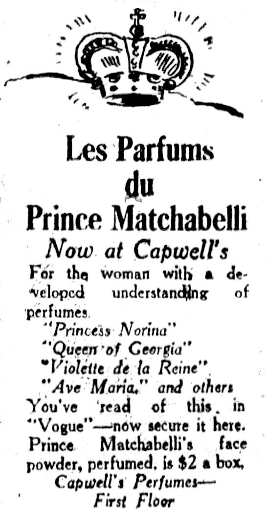 Prince Matchabelli Perfumes History