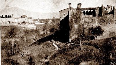 El castillo de Vallparadís y San Pedro, Tarrasa 1898