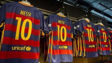 La camiseta del Barça, un éxito en Escocia