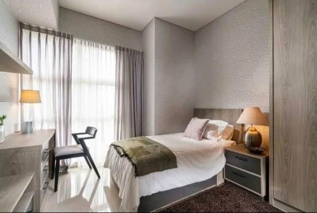 Kamar tidur Rumah Minimalis Type 30 Dengan Lampu Khusus