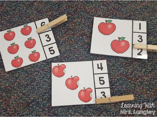 Count and Clip: September Math Centers
