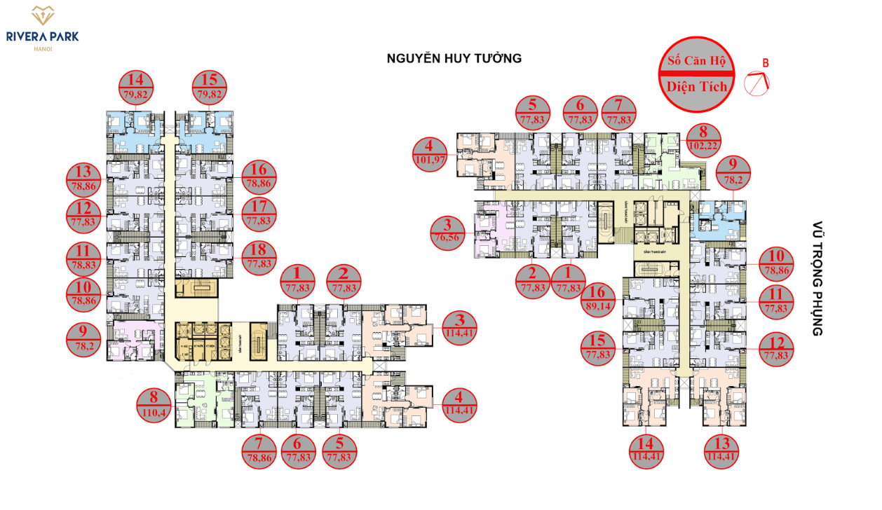 mặt bằng căn hộ chung cư dlc complex nguyễn tuân
