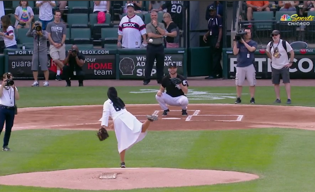 sister mary jo white sox first pitch curve