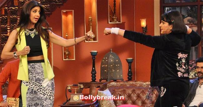 Shilpa Shetty and Upasana Singh, Shilpa Shetty Promotes Dishkiyaaoon Promotion on Comedy Night with Kapil