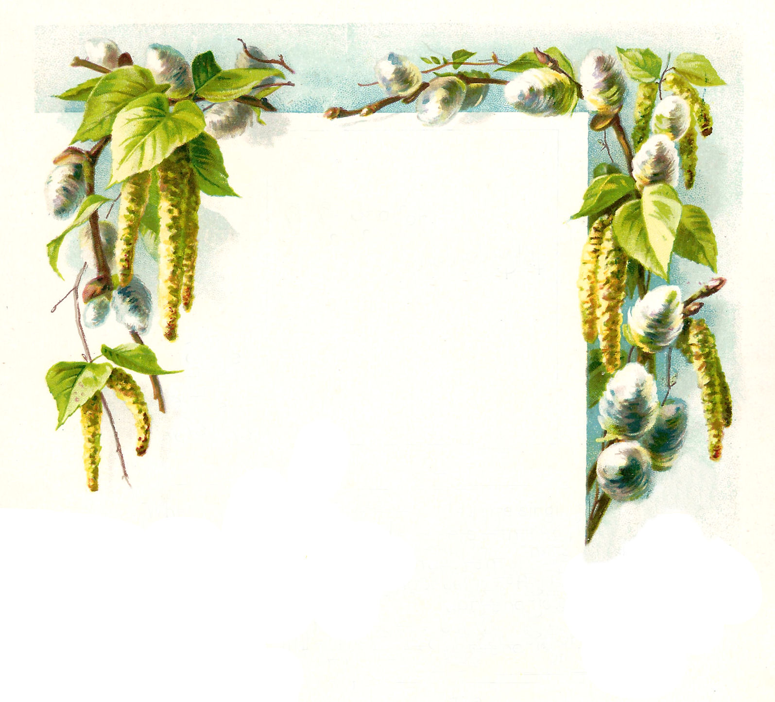 free green floral frame - photo #3