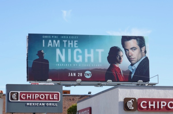 I Am the Night TNT series billboard
