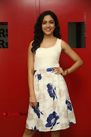 Actress Ritu Varma Stills in White Floral Short Dress at Kesava Movie Success Meet .COM 0153.JPG
