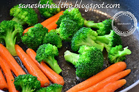 You can cook carrot with broccoli
