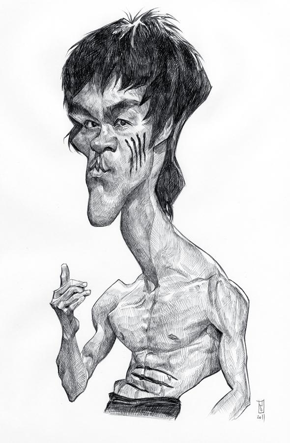 Bruce Lee por Alberto Russo