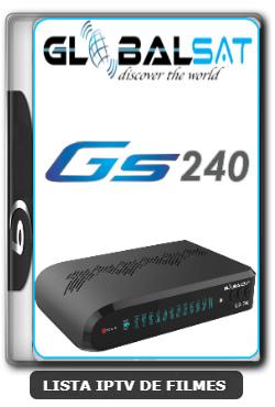 Globalsat GS240 Nova Atualização Melhoria SKS, IKS e Correção do VOD V2.55 - 01-03-2020