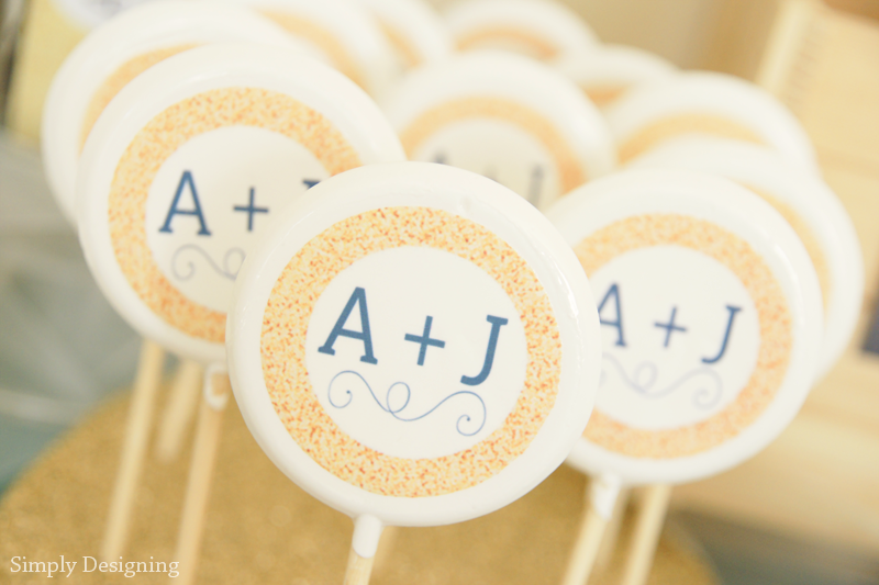 Rustic Glam Wedding Lollipops | #wedding #shutterflywedding @shutterfly #photobooth #printable