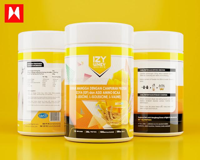 gambar produk protein susu 3d sticker