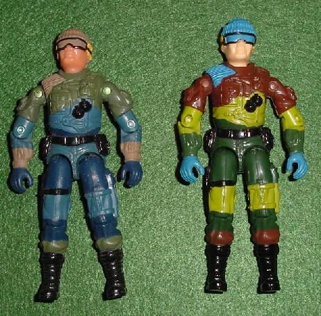 2003 Unproduced Wal Mart Sky Patrol Low Light, Midnight Chinese, Rare G.I. Joe Figures, 1989 Slaughters Marauders Low Light