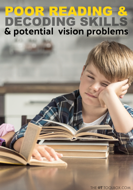 Convergence insufficiency impacts reading that interferes with reading comprehension, reading decoding skills, reading fluency, and other areas that impacts how a child reads.