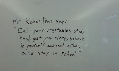 Mr. Robertson's Corner, Mr. Robertson says, high school blogs, high school life, education blogs