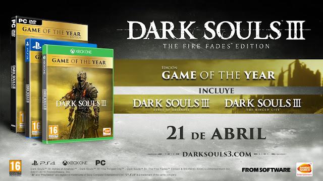 Anunciada la edición GOTY de Dark Souls 3 para el 21 de abril