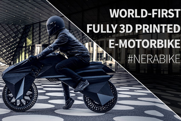 BigRep's NERA is the world's first fully (FFF) 3D printed, functional e-Motorcycle
