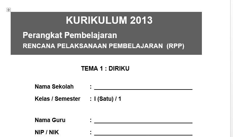 Rpp Kurikulum 2013 Sd Kelas 5 Revisi 2017 Pdf