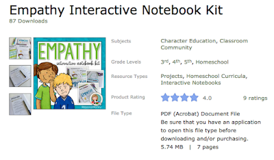https://www.teacherspayteachers.com/Product/Empathy-Interactive-Notebook-Kit-2949739