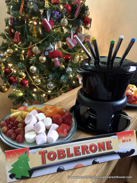 A Toblerone fondue for Christmas