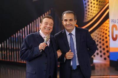 Silas Malafaia e Raul Gil (Crédito: Rodrigo Belentani /SBT)