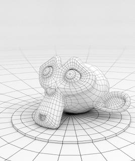 Final render dengan teknik pencahyaan, teknik camera dan phothoshop