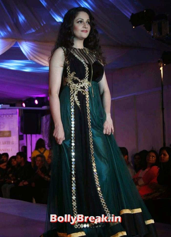 Gracy Singh, Ex Bigg Boss Contestants at Welingkar's Tribute Fashion Show 2014