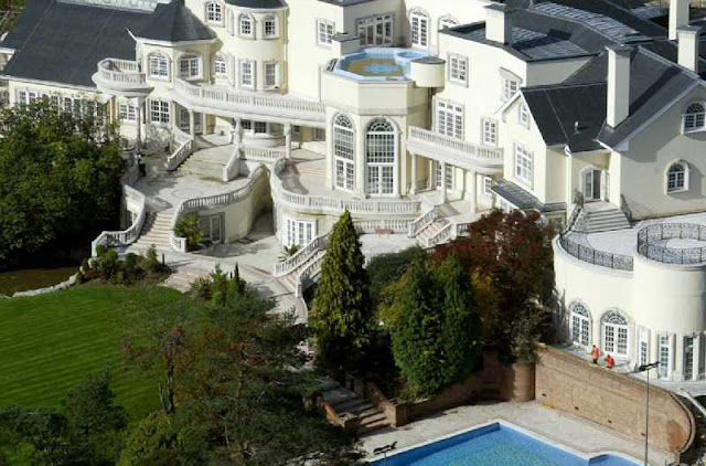 vista aerea de  la casa mas cara del mundo