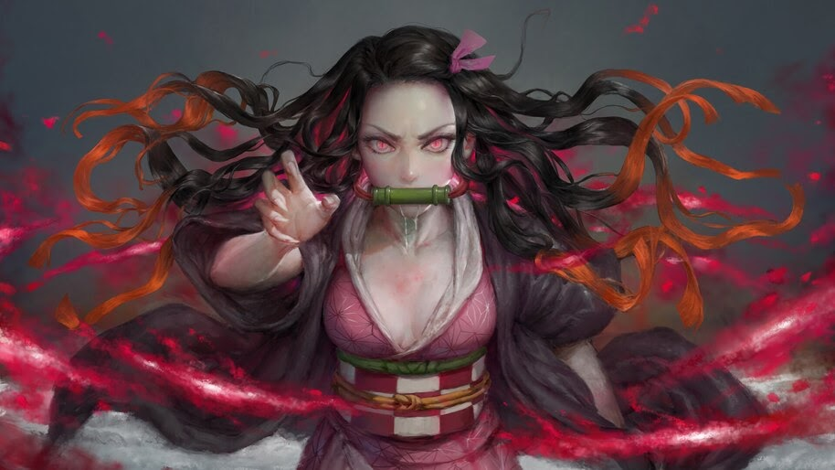 Nezuko, Blood Demon Art, Kimetsu no Yaiba, 4K, #7.193