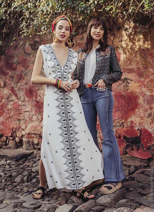 Vestidos, blusas y pantalones ropa de mujer de moda verano 2019.