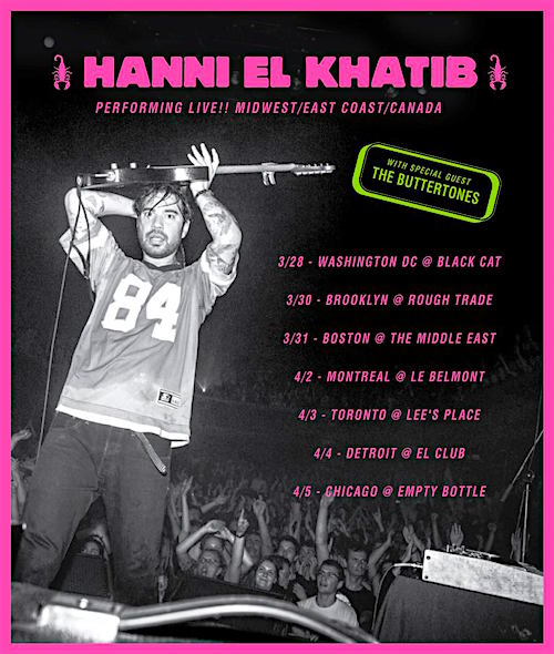 Hanni El Khatib @ Lee's Palace, April 3