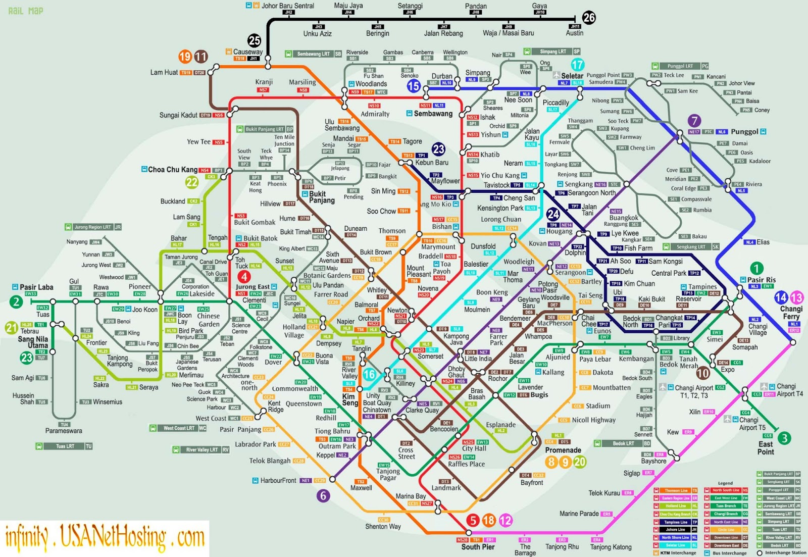 Mapas Geográficos de Singapura ou Cingapura