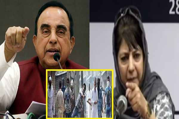 subramanian-swamy-welcomes-mehbooba-mufti-decision-stone-pelter