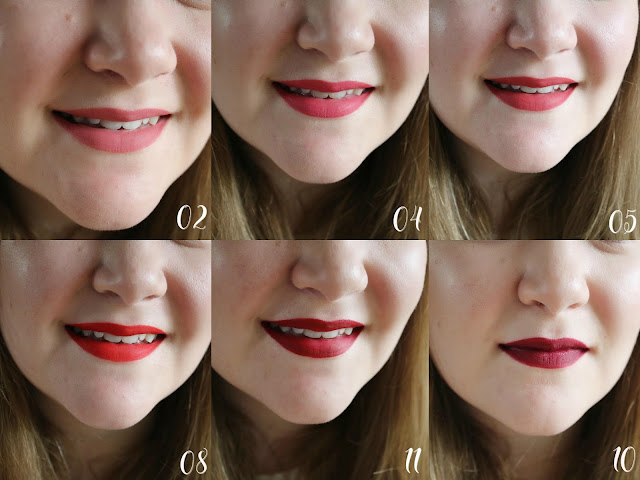 lip swatches, lipstick, matte, affordable, drugstore, highstreet,