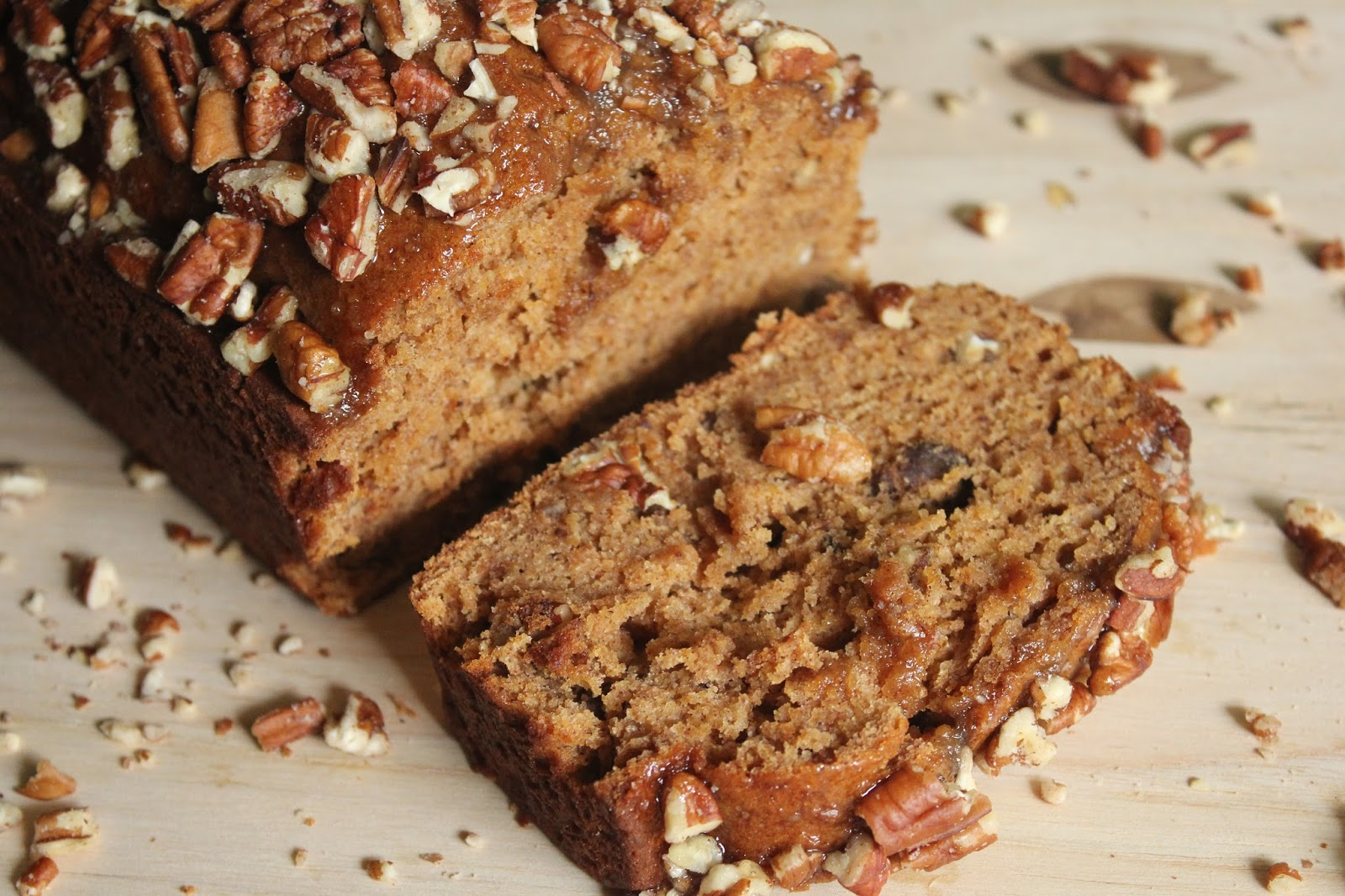 Holiday Cookbook - Thanksgiving Dessert Recipe: Pumpkin Pecan Bread with Vanilla & Brown Sugar Glaze