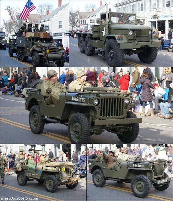 Vehículos Militares del Desfile de Acción de Gracias de Plymouth