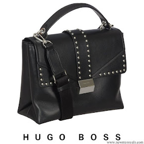 Queen Letizia carried Hugo Boss Adrianne Handbag