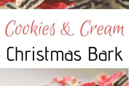 Cookies & Cream Christmas Bark