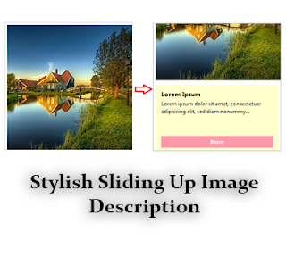 In this article im gonna explicate how to add together sliding upwards ikon description  Stylish Sliding Up Image Description for Blogger