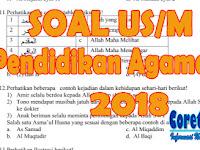 Soal US Pendidikan Agama Islam PAI Kelas 6 SD Tahun 2018