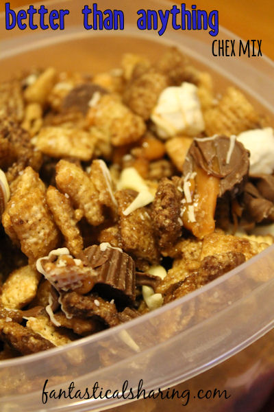 Better Than Anything Chex Mix // A sleepover isn't complete unless it has an addictive snack like this chex mix that is literally better than anything and everything!