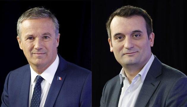 Nicolas Dupont-Aignan et Florian Philippot apportent leur soutien à Jean-Pierre Pernaut