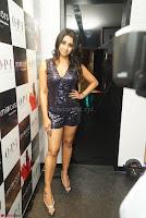 Sanjana looks happy in sparkling short Deep neck Purple Gown ~  Exclusive 10.JPG