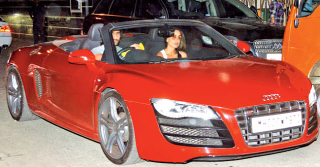 Karina Kapoor and Saif Ali Khan car's them lucky number 3 and 7