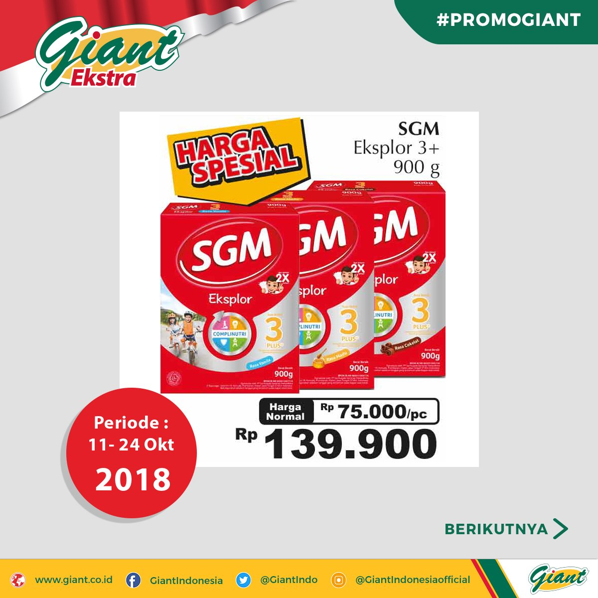 Giant - Promo Giant Ekstra Beli Banyak Untung Banyak (s.d 24 Okt 2018)