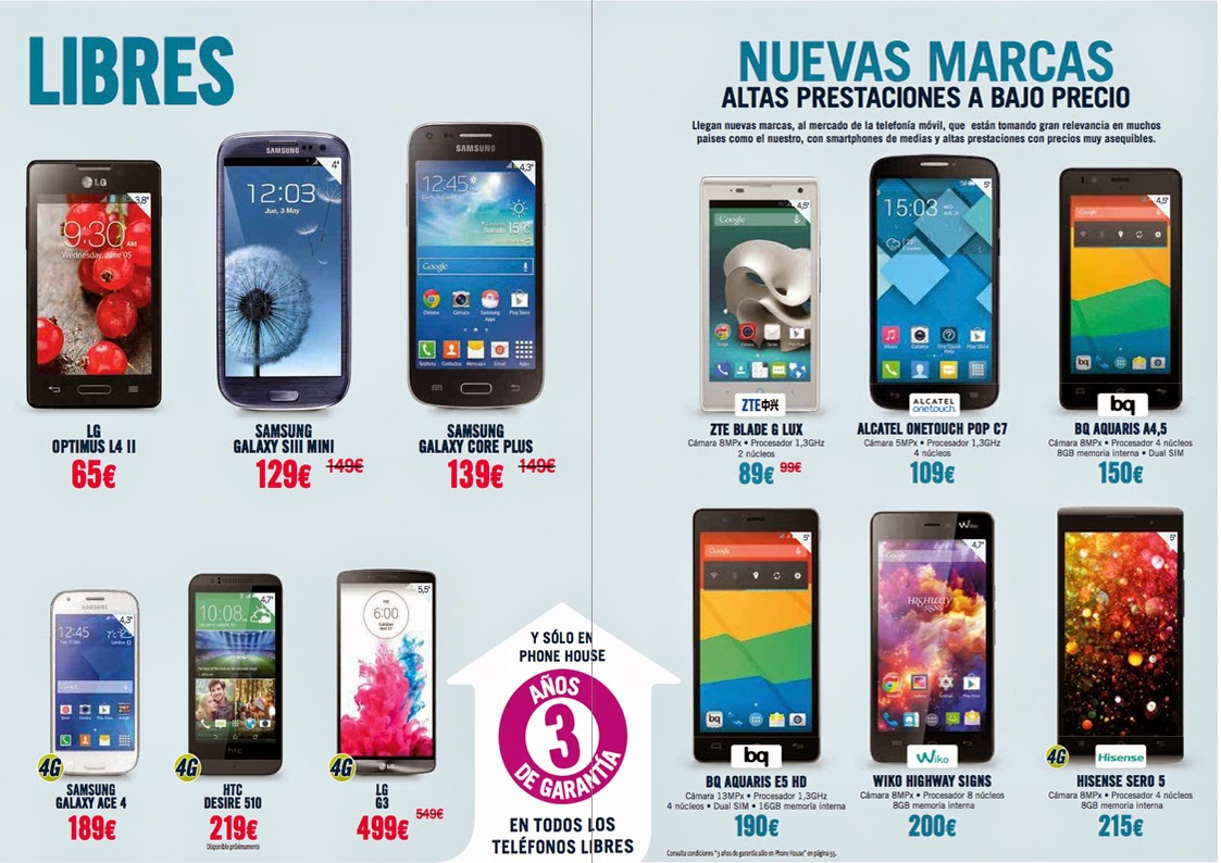 Catalogos De Moviles Libres Phonehouse Sur Ingenia Mobile Noviembre 2014