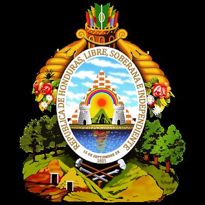 Coat of arms - Flags - Emblem - Logo Gambar Lambang, Simbol, Bendera Negara Honduras