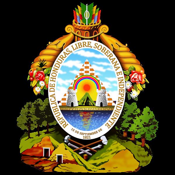 Logo Gambar Lambang Simbol Negara Honduras PNG JPG ukuran 600 px